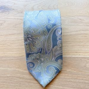 ALEXANDER JULIAN COLOURS mens light blue necktie